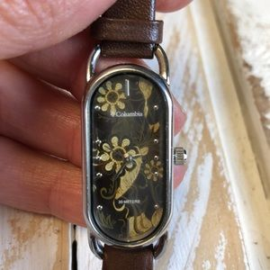 Water Resistant Leather Columbia Wrist Watch